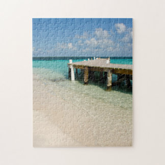 Belize, Caribbean Sea, Goff Caye. A Small Island Jigsaw Puzzle