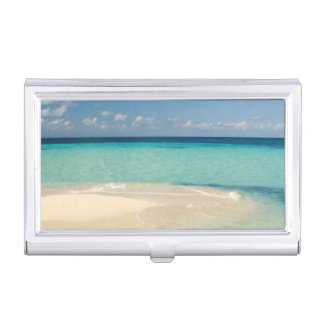 Belize, Caribbean Sea. Goff Caye, A Small Island Business Card Holders