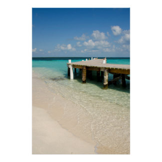 Belize, Caribbean Sea, Goff Caye. A Small Island Poster