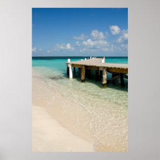 Belize, Caribbean Sea, Goff Caye. A Small Island Poster