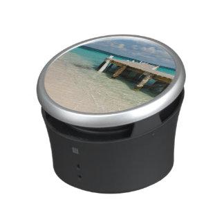 Belize, Caribbean Sea, Goff Caye. A Small Island Speaker
