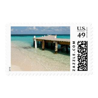 Belize, Caribbean Sea, Goff Caye. A Small Island Stamp
