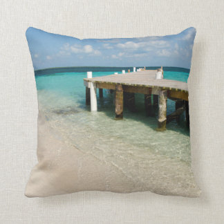 Belize, Caribbean Sea, Goff Caye. A Small Island Throw Pillow