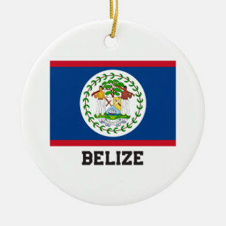 Belize Ceramic Ornament