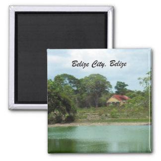 Belize City, Belize 2 Inch Square Magnet