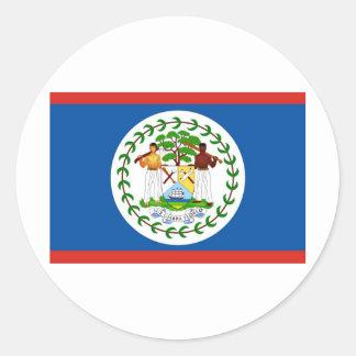 Belize Classic Round Sticker