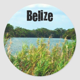 Belize Classic Round Sticker