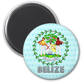 Belize Coat of Arms 2 Inch Round Magnet