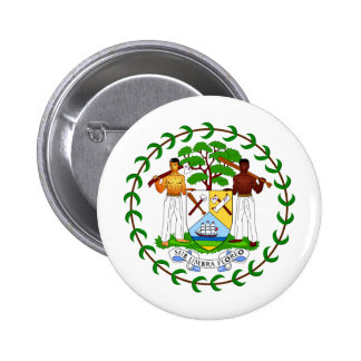Belize Coat of arms BZ Pinback Button