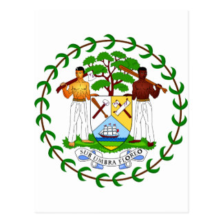 Belize Coat of arms BZ Postcard