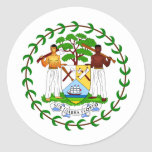 Belize Coat of arms BZ Round Stickers