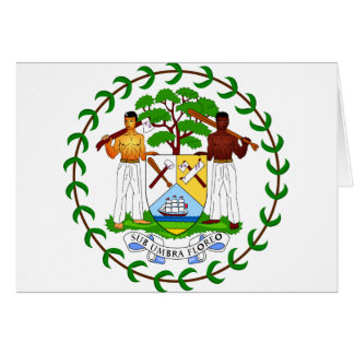 Belize coat of arms card
