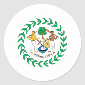 Belize Coat Of Arms Classic Round Sticker