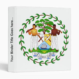 Belize Coat of Arms detail 3 Ring Binder