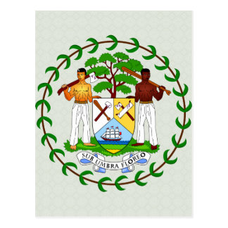 Belize Coat of Arms detail Postcard