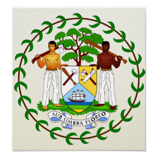 Belize Coat of Arms detail Poster