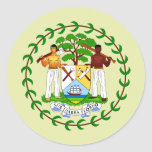 Belize Coat of Arms detail Round Sticker