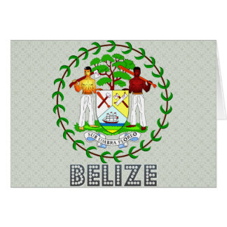 Belize Coat of Arms Greeting Card