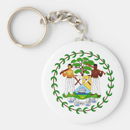 Belize coat of arms keychains