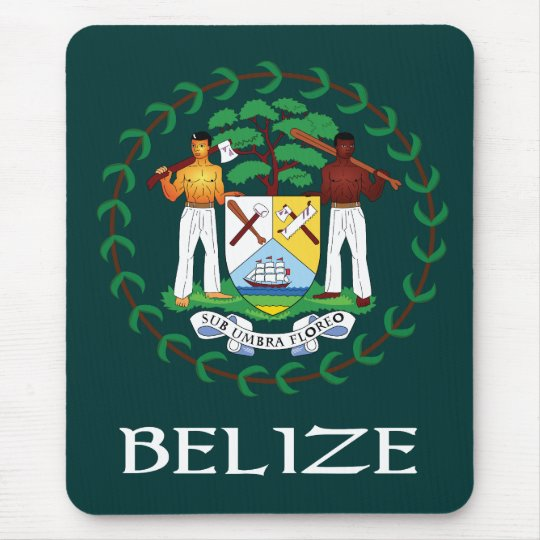 Belize Coat of Arms Mouse Pad
