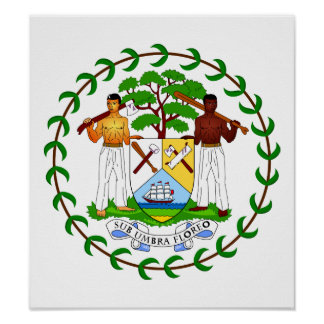 Belize Coat Of Arms Print