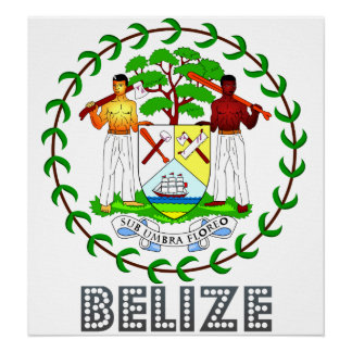 Belize Coat of Arms Poster