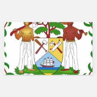 Belize Coat of Arms Rectangular Sticker