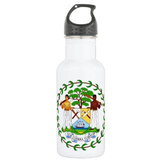 Belize Coat Of Arms Stainless Steel Water Bottle