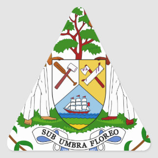 Belize Coat of Arms Triangle Sticker
