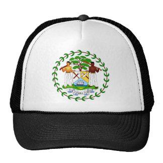 Belize coat of arms trucker hat