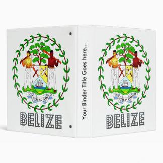 Belize Coat of Arms Vinyl Binders