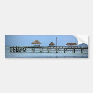 Belize Dock Huts Bumper Sticker