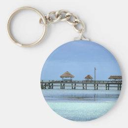 Belize Dock Huts Keychain