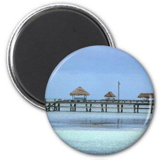 Belize Dock Huts Magnet