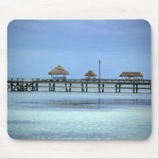Belize Dock Huts Mouse Pad