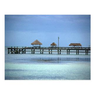 Belize Dock Huts Postcard