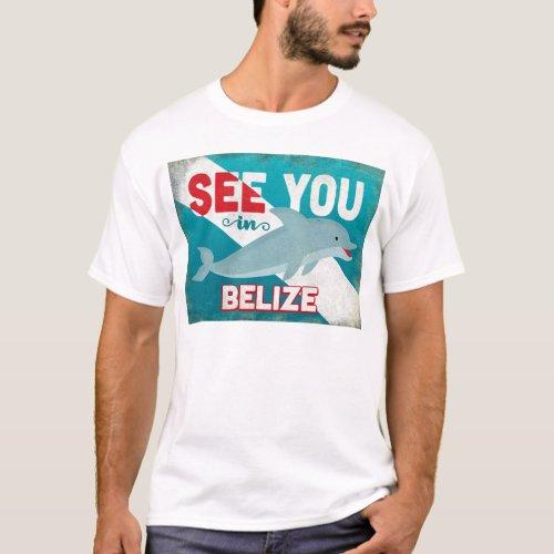 Belize Dolphin - Retro Vintage Travel