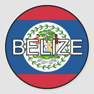 Belize Euro Sticker