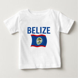 Belize Flag 1 (Wavy) Baby T-Shirt