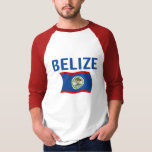 Belize Flag 1 (Wavy) T-Shirt