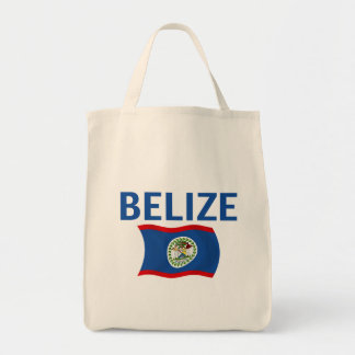 Belize Flag 1 (Wavy) Tote Bag