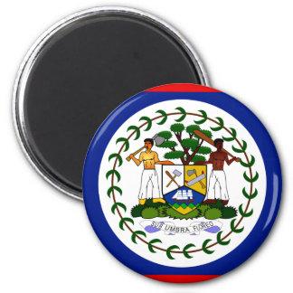 Belize Flag 2 Inch Round Magnet