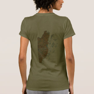 Belize Flag and Map dk T-Shirt Shirt