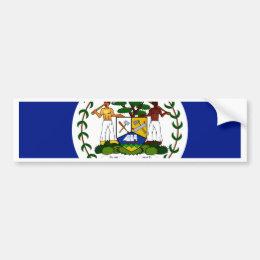 Belize Flag Bumper Sticker