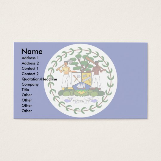 Belize Flag Business Card