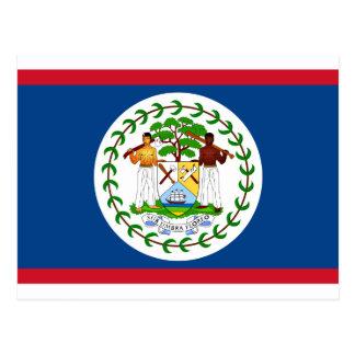 Belize Flag BZ Postcard