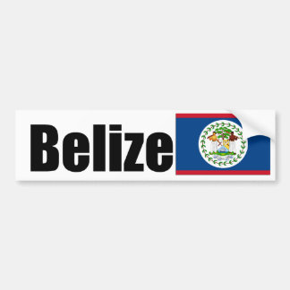 Belize Flag Car Bumper Sticker