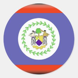 Belize Flag Classic Round Sticker