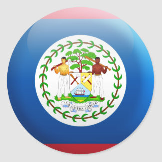 Belize Flag Classic Round Sticker