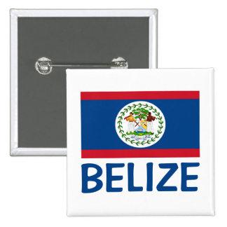 Belize Flag Customizable Blue Text Button